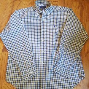 Ralph Lauren Cotton Poplin Button Down Dress Shirt
